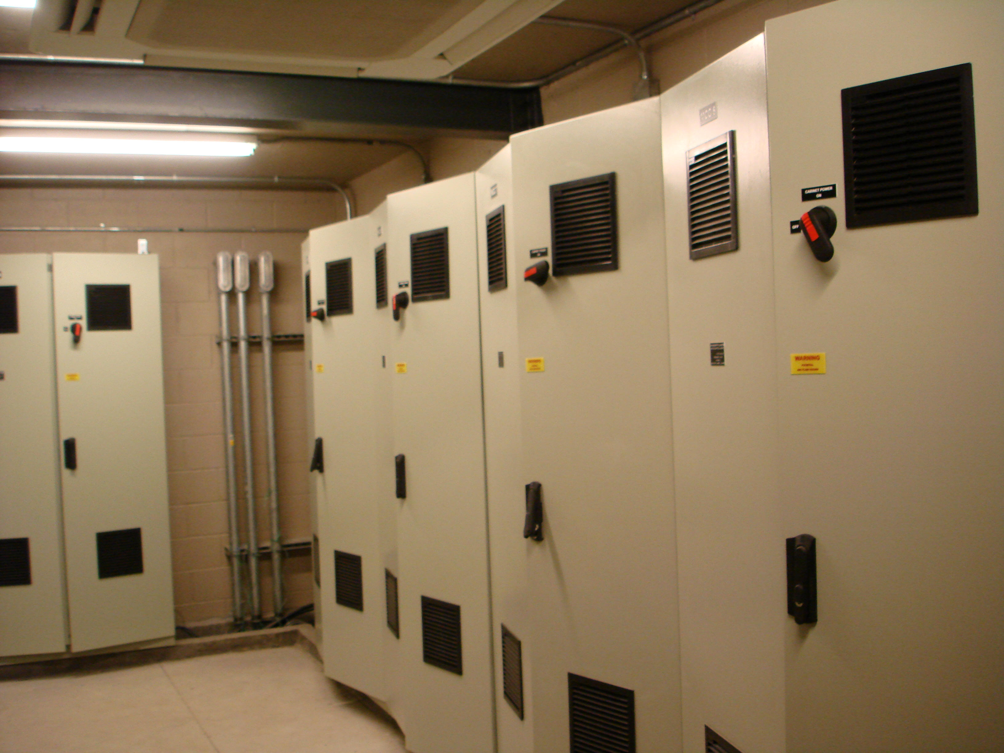 Maximum RPM Control Room with Motor Control Cabinets (8 total)
