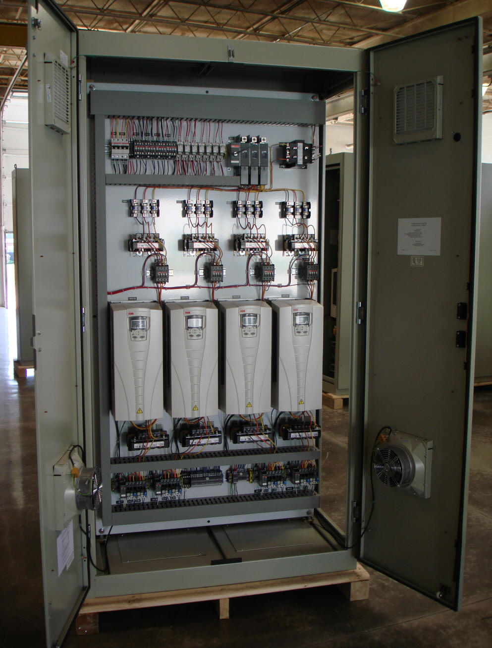 Sample interior of an AAR motor control cabinet